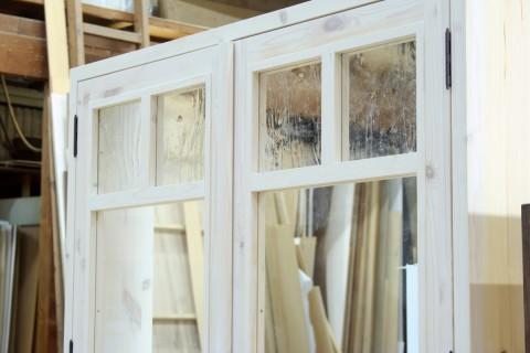 組み合わせガラス(2枚観音開き窓、拡大1)