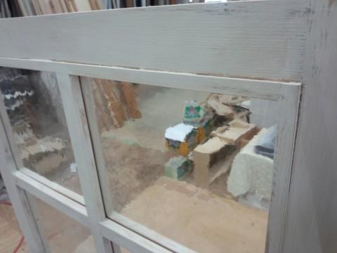 FIX窓・アンティークペイント仕上げ(汚し仕上げ)