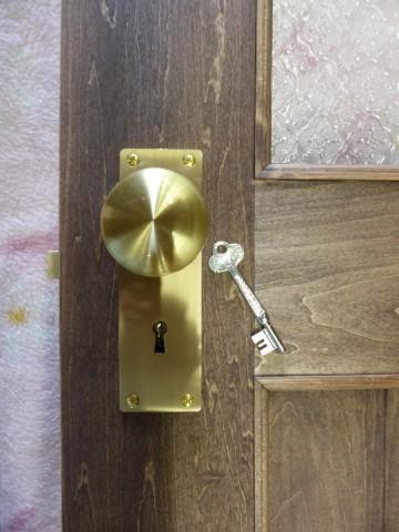 掘り込み箱錠と鍵