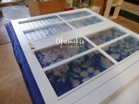 キッチン扉(フローラガラス・白色塗りつぶし)