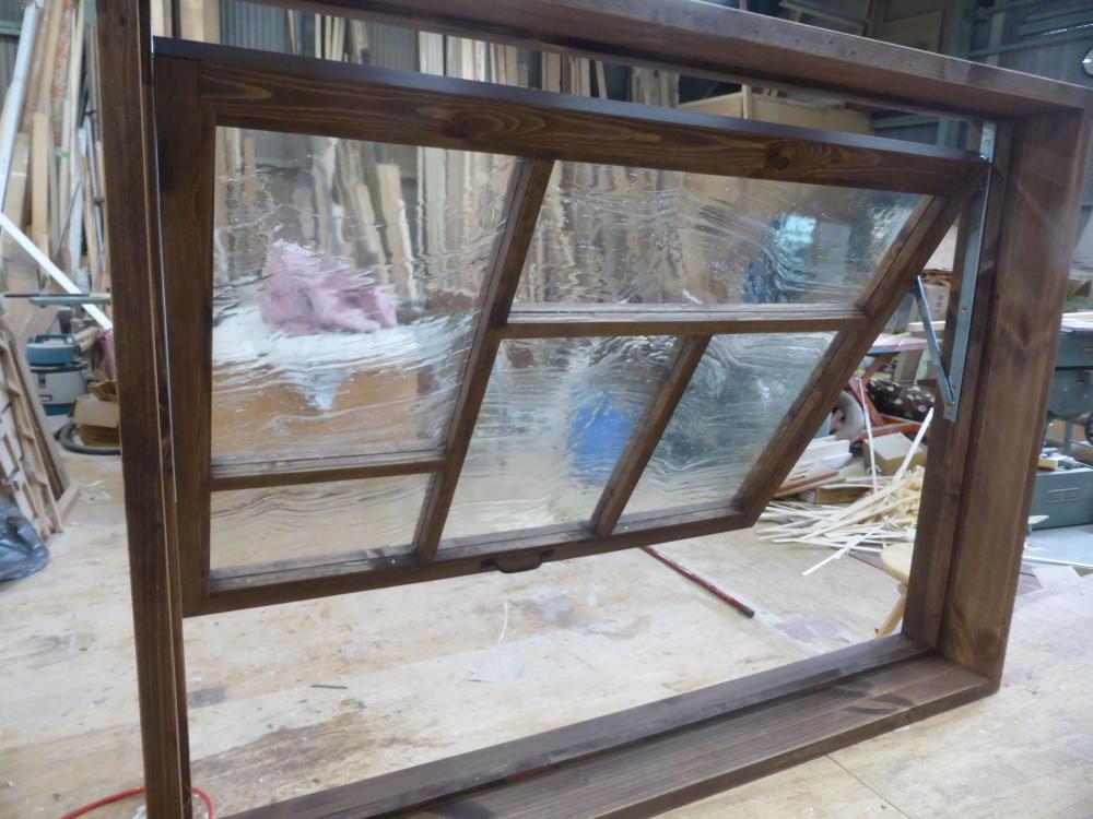 滑り出し室内窓(木製・オーダー)