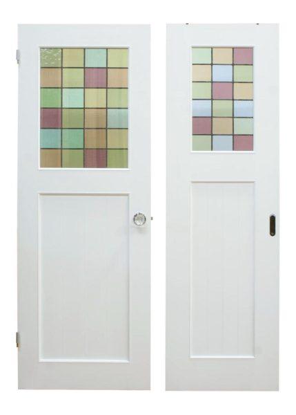 ステンドグラスドア(開きドアと引き戸)