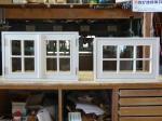木製オーダー室内窓(2枚観音開き窓と滑り出し窓)/okamoku