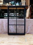 室内窓(FIX窓)つや消し黒塗りつぶし/木製・オーダー・okamoku
