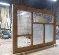 室内窓(FIX窓)デザイン格子/木製・オーダー・okamoku