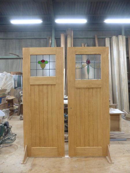 アンティークステンドグラス室内ドア(オーダー・okamoku)