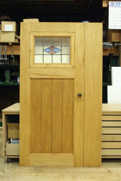 アンティークステンドグラス親子ドア