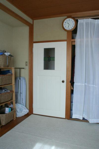 交換後のドア