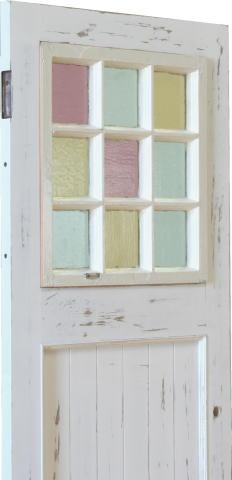 アンティーク格子窓